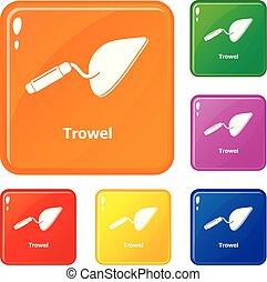 Los iconos de Trowel marcan el color vector