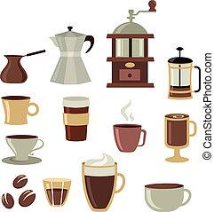Los iconos del café están listos