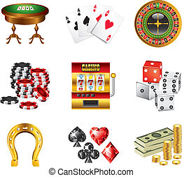 Los iconos del casino están listos
