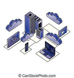 Los iconos del centro de datos