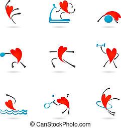 Los iconos del corazón