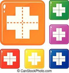 Los iconos del cruce marcan el color vectorial
