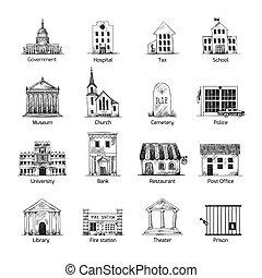 Los iconos del gobierno