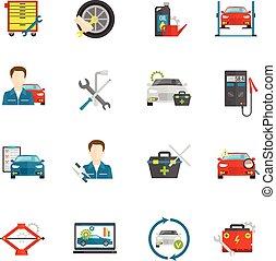 Los iconos del mecánico de autos