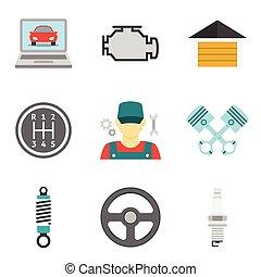 Los iconos del servicio de automóviles vol 2