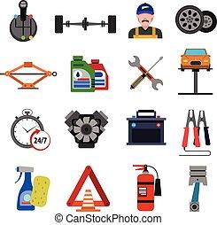 Los iconos del servicio de coches