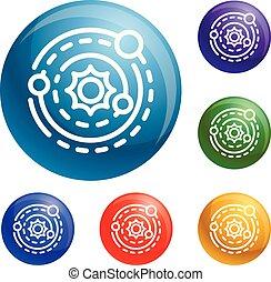 Los iconos del sistema solar marcan vector