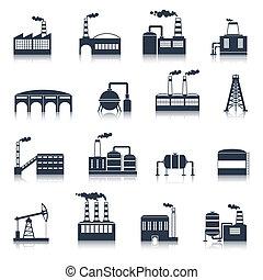 Los iconos industriales son negros