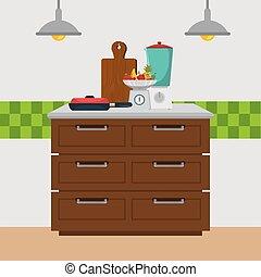 Los iconos modernos de la cocina
