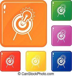 Los iconos objetivos son de color vector
