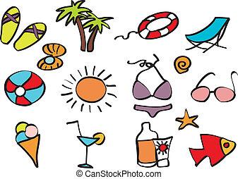 Los Icons están de vacaciones en una playa tropical