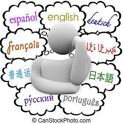 Los idiomas creían que nublaba el español inglés francés alemán
