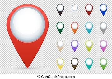 Los indicadores de mapa de vectores fijados