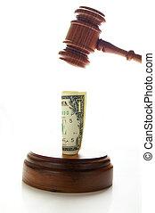 Los jueces de la ley dieron dinero, en blanco
