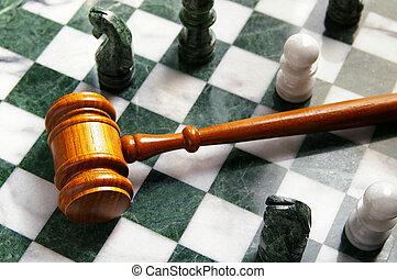 Los jueces se rindieron en un tablero de ajedrez