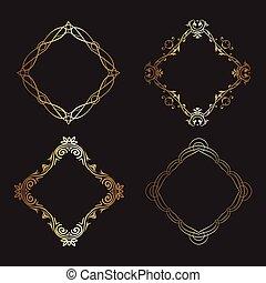 Los marcos de oro decorativos cobran 1005