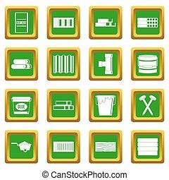 Los materiales de construcción se ponen verdes