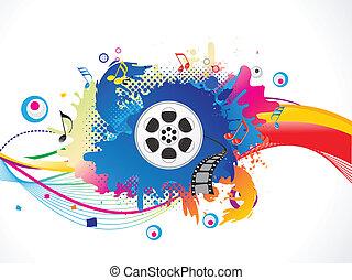 Los medios de comunicación abstractos y coloridos explotan