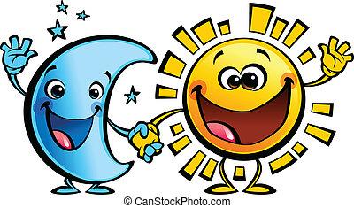 Los mejores amigos del sol y la luna, los dibujos de bebés