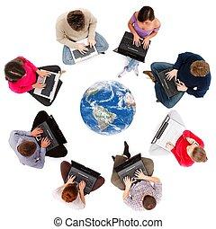 Los miembros de la red social vistos desde arriba
