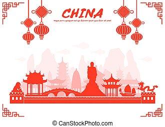 Los monumentos de China.