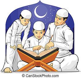 Los niños aprenden a leer al-quran con esto