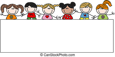 Los niños mixtos y felices