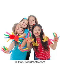 Los niños pintan diversión