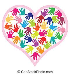 Los niños tienen huellas en el corazón