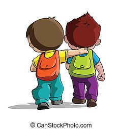 Los niños van a la escuela
