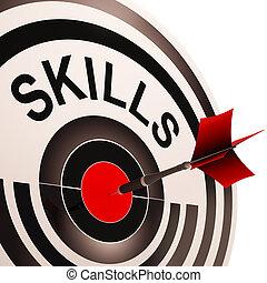 Los objetivos muestran habilidades y entrenamiento
