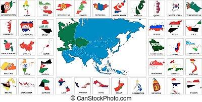 Los países asiáticos marcan mapas