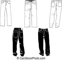 Los pantalones se templan