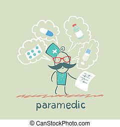 Los paramédicos hablan de medicinas