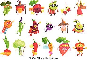 Los personajes de fruta y verduras son fantásticos