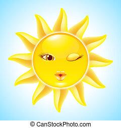 Los personajes del sol Cartoon