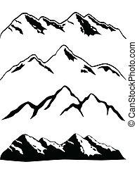 Los picos de montaña