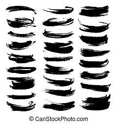 Los pinceles del vector texturan gruesas