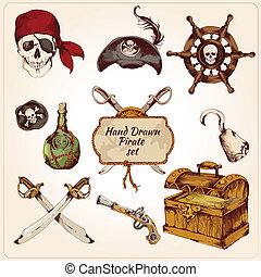 Los piratas coloreaban iconos