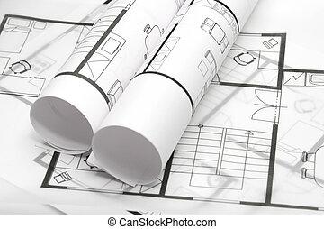 Los planos de la arquitectura