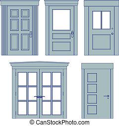 Los planos de la puerta