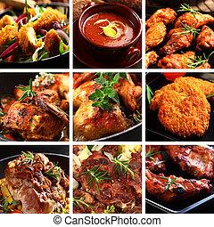 Los platos de carne