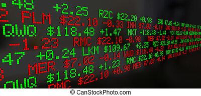 Los precios de la Bolsa de Valores de fondo de ilustración 3D