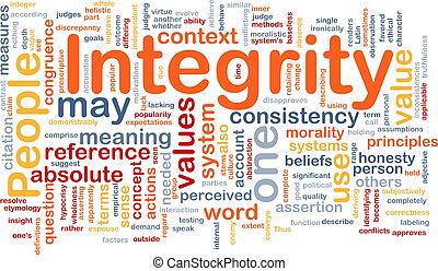 Los principios de la integridad son conceptos de fondo