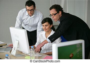 Los profesionales trabajan juntos en un proyecto