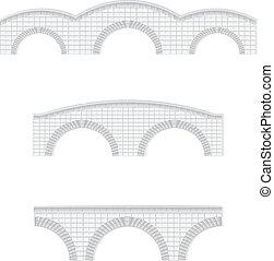Los puentes de piedra ilustran el vector