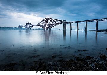 Los puentes Forth en Edimburgo, Escocia