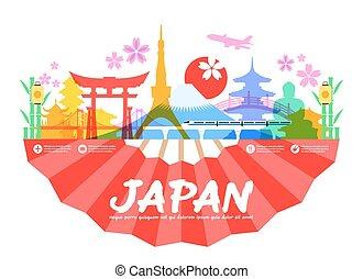 Los puntos de viaje de Japón