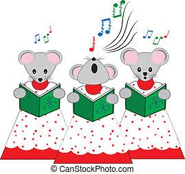 Los ratones de la iglesia navideña