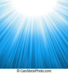Los rayos de sol se adhieren. EPS 8